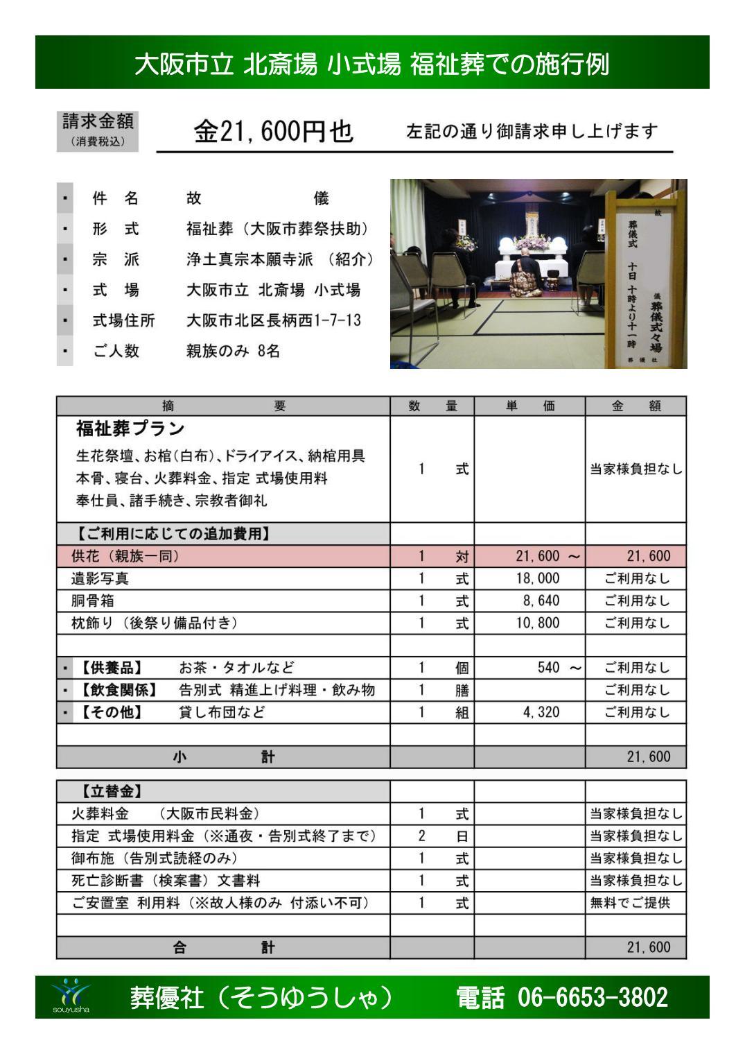 大阪市 東成区 - 火葬、葬儀費用が払えないでお困りの方